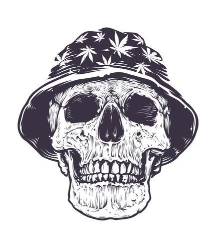 cranio rasta nel cappello