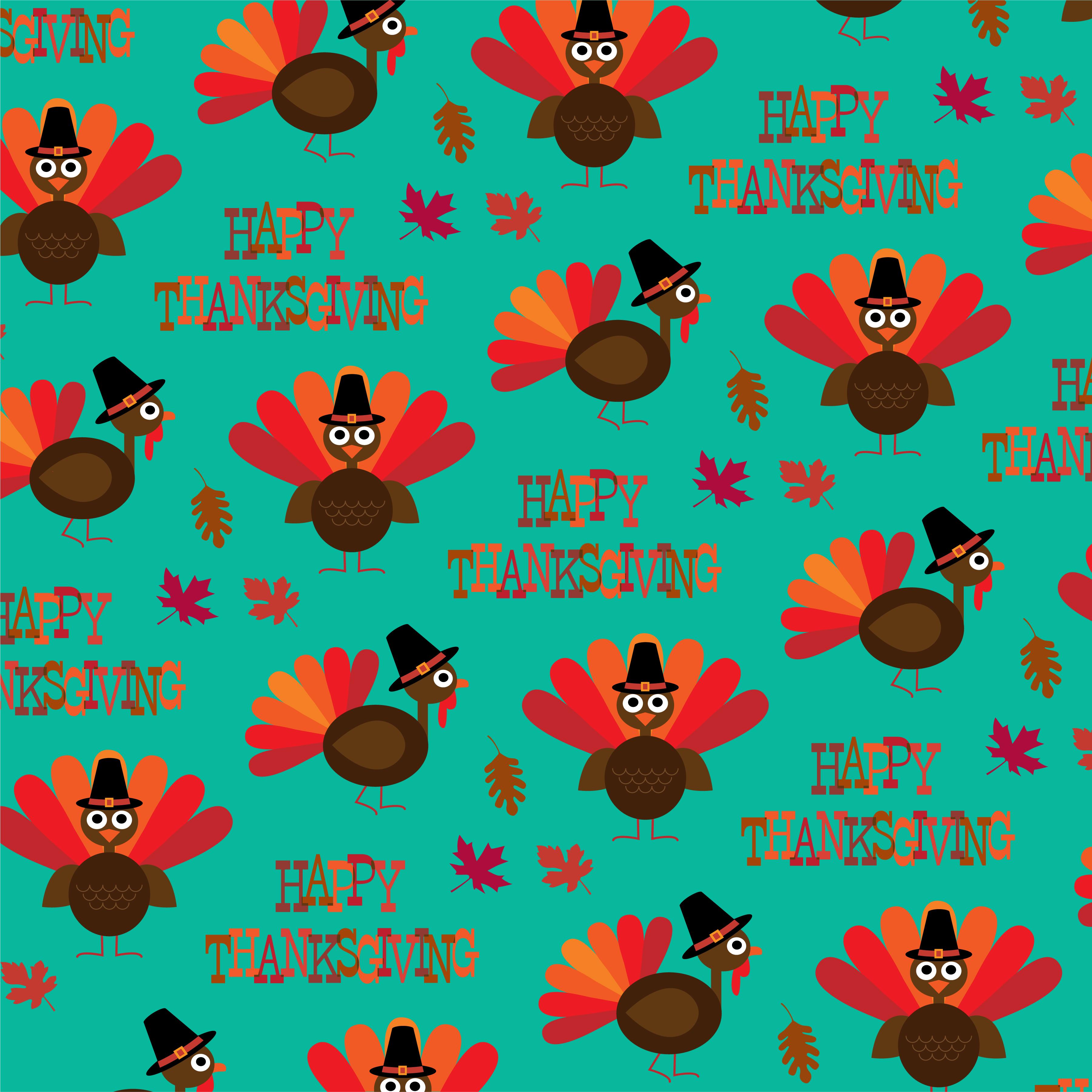 turkey Thanksgiving pattern - Download Free Vectors ...