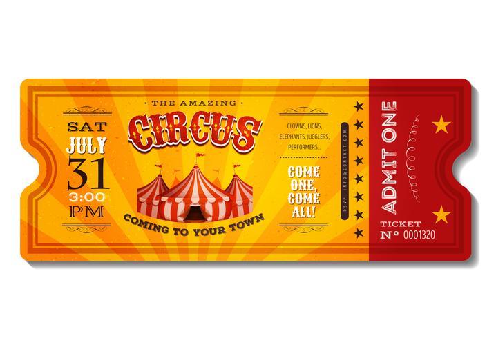 Boleto de circo vintage