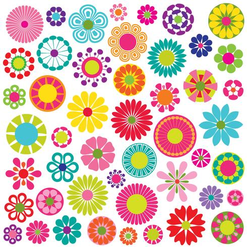 mod blommor vektorgrafik