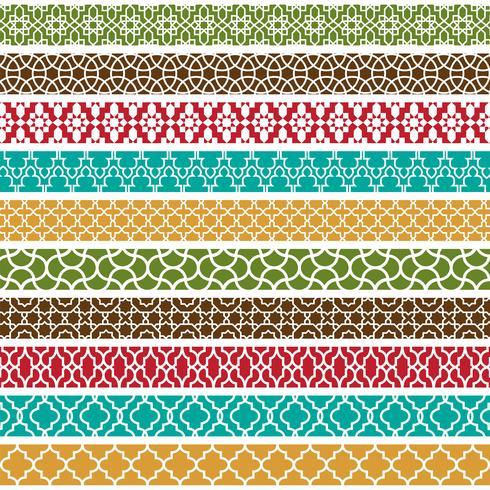 colorati modelli di confine marocchino