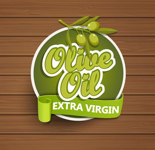 Etiqueta virgen extra de aceite de oliva.