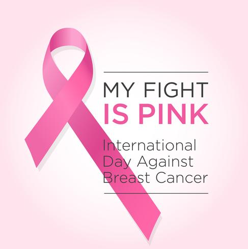 International Day Against Breast Cancer Banner My Fight Is Pink Download Free Vectors Clipart Graphics Vector Art