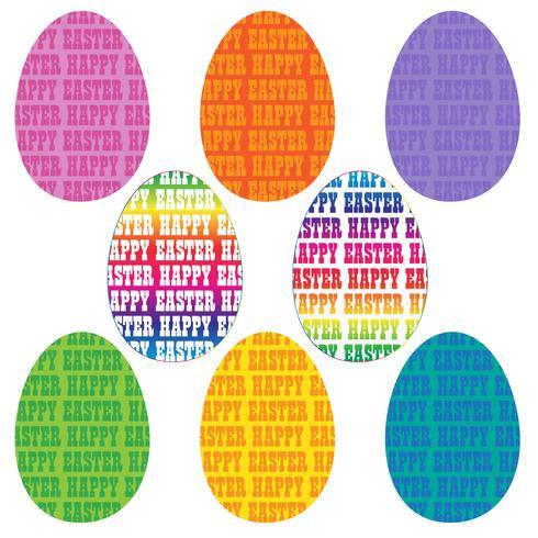 uova di tipografia di Pasqua felice vettore