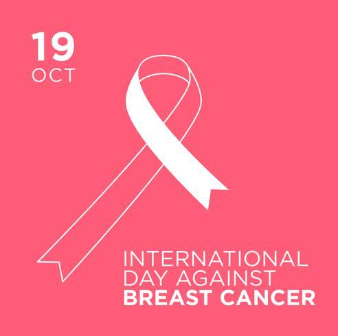 Bannière de la Journée internationale contre le cancer du sein.