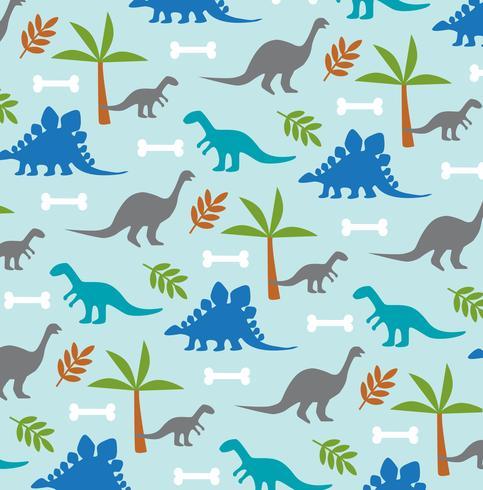 motif de fond dinosaure et palmier