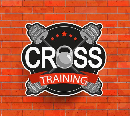 Emblema crosstraining denominado retro.