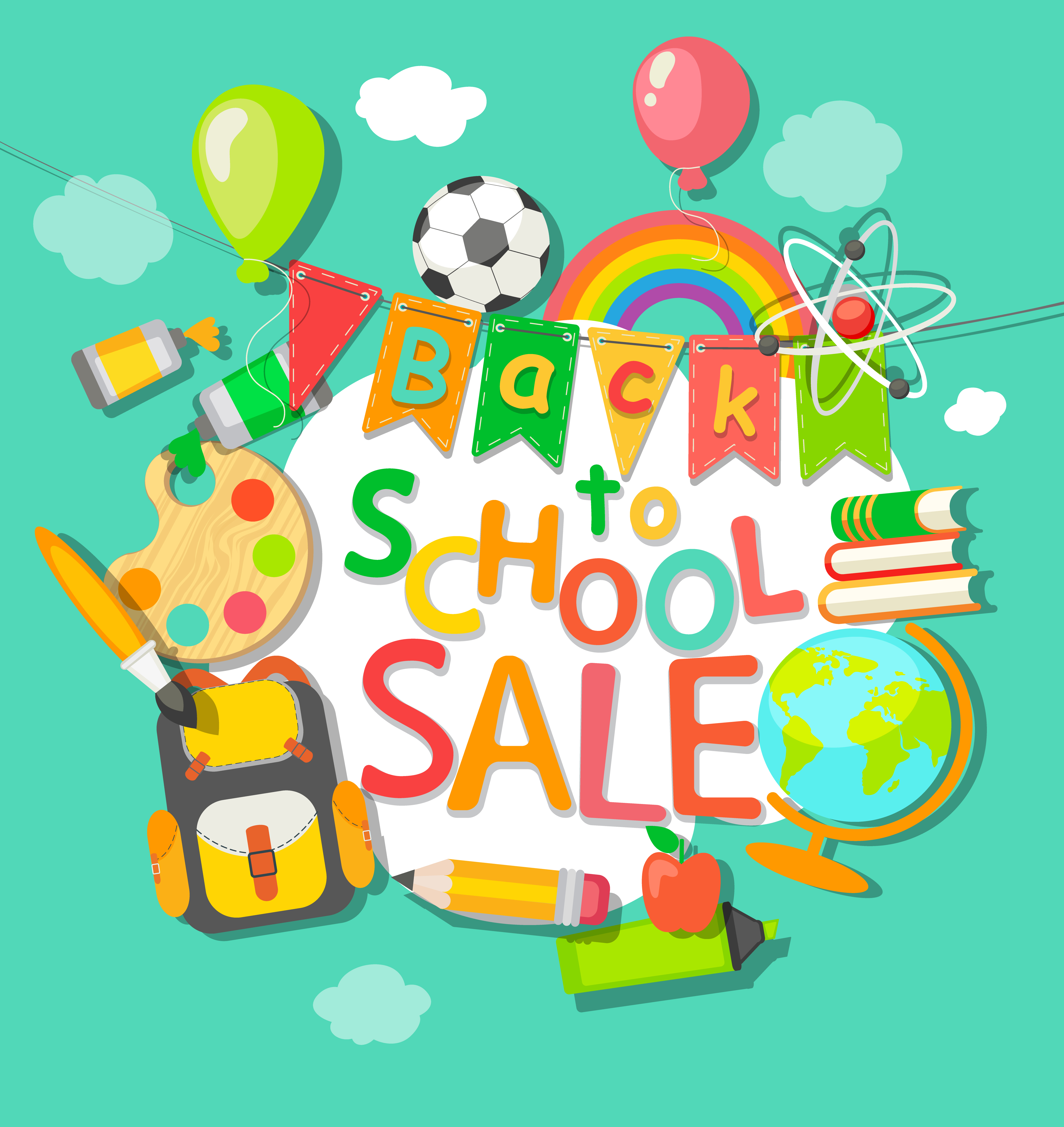 Back to School sale background. - Download Free Vectors ...