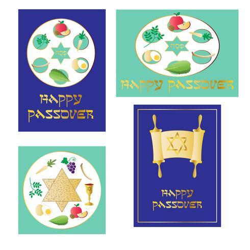 grafica di passover vettore