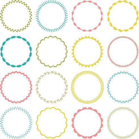 bordado puntada círculo marcos
