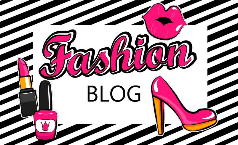 Template for fashion blog. vector