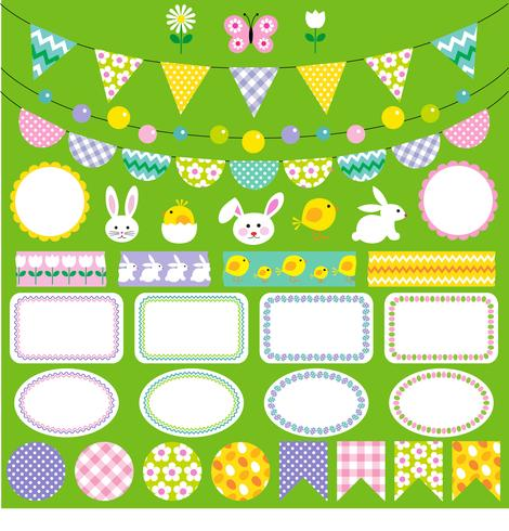 pasen bunting clipart