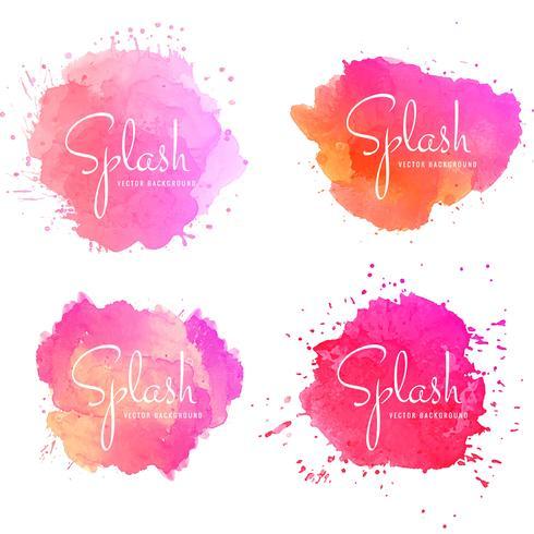 Conjunto de salpicaduras colorido abstracto
