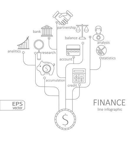 Banking and savings, finance infographic vector