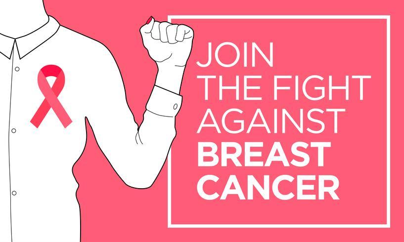 Câncer de mama. Junte-se ao banner de luta