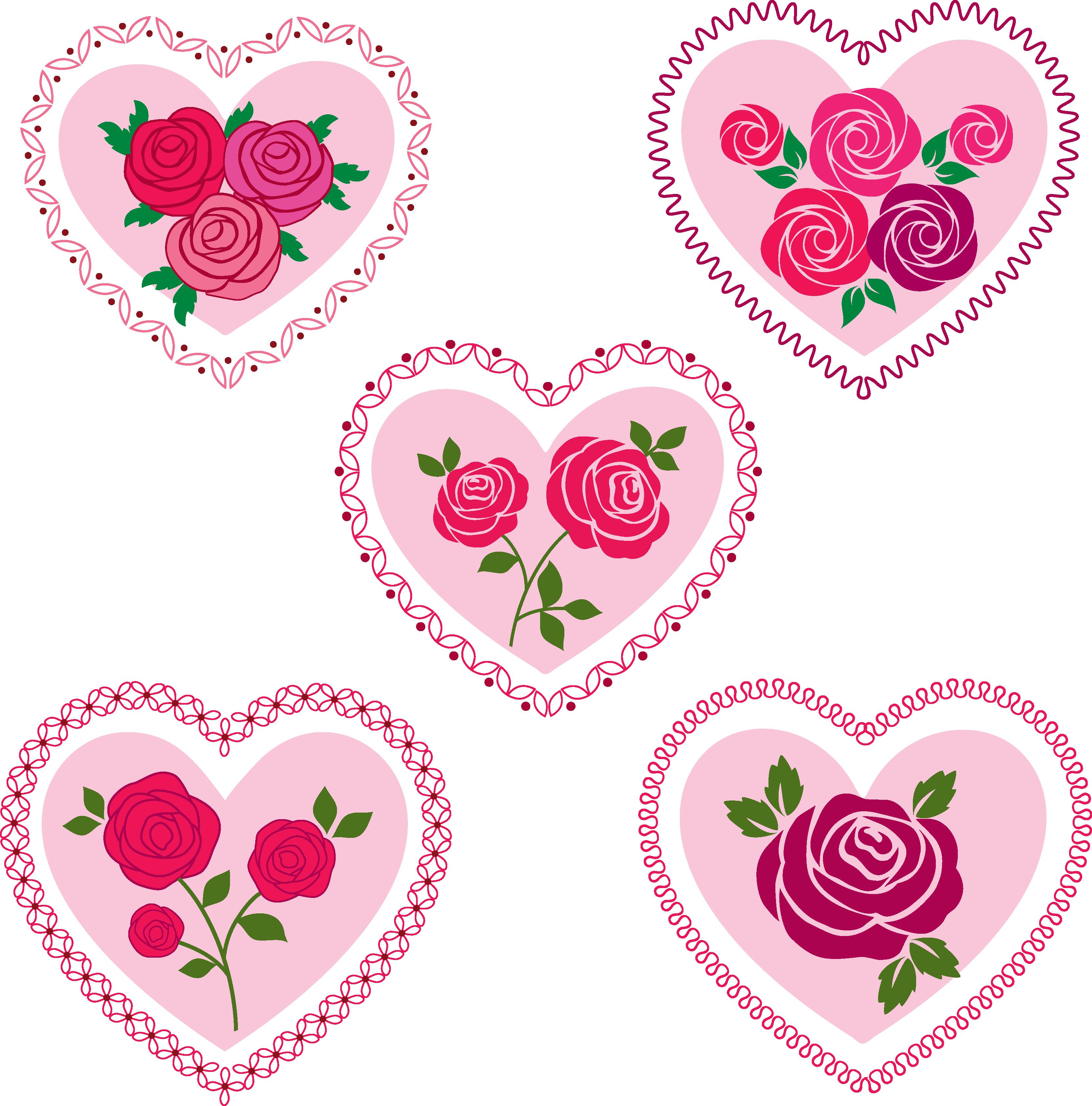 rose valentine hearts clipart - Download Free Vectors ...