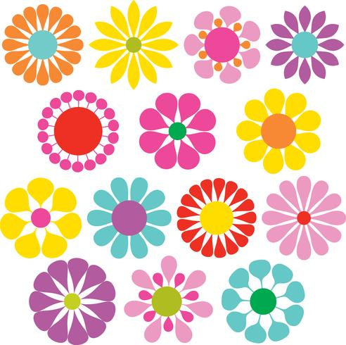 flores simples vector