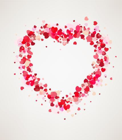 Glad hjärtans dag kortram vektor
