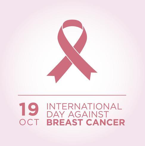 Internationale dag tegen borstkankerbanner.