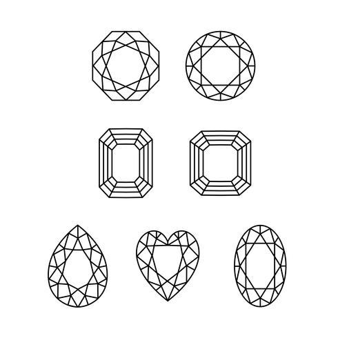 clipart del esquema de la piedra preciosa