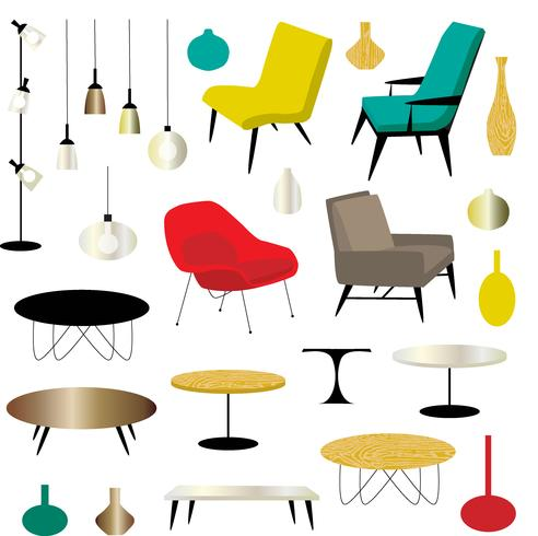 modern furniture clipart  vector