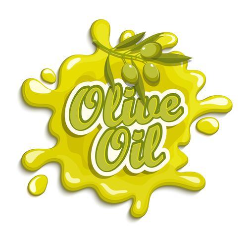 Étiquette d'huile d'olive.