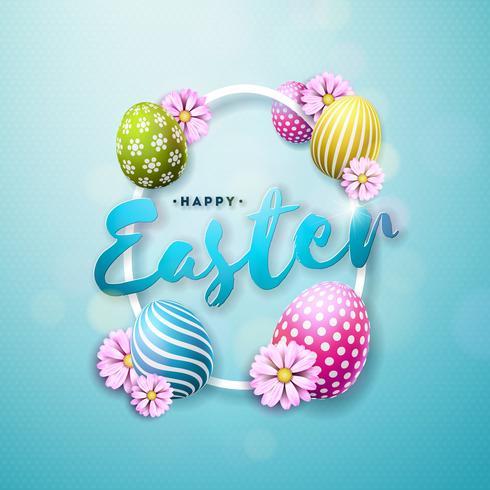 Abbildung von glücklichen Ostern-Feiertagen