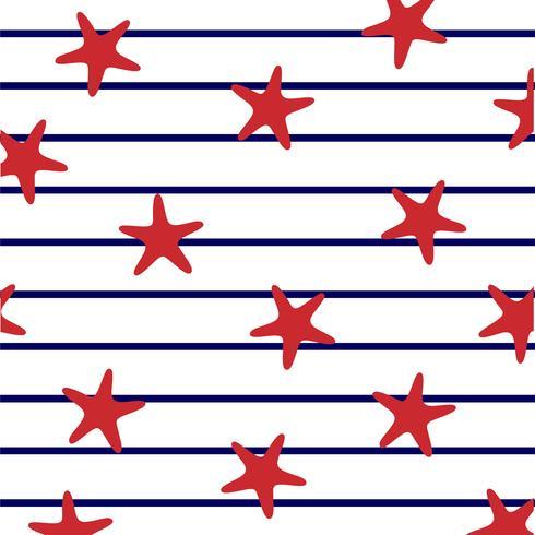 Sea stars on marine stripes.