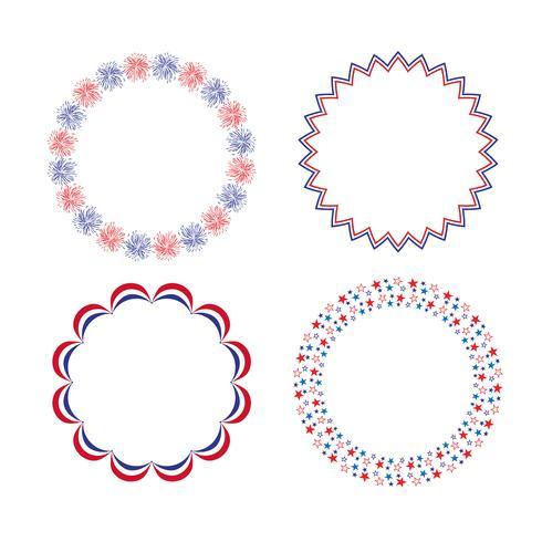 cadres cercle blanc bleu rouge