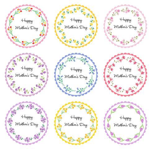 marcos del círculo del día de la madre