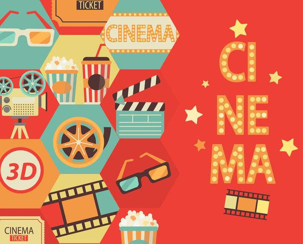 Cinema bakgrund vektor