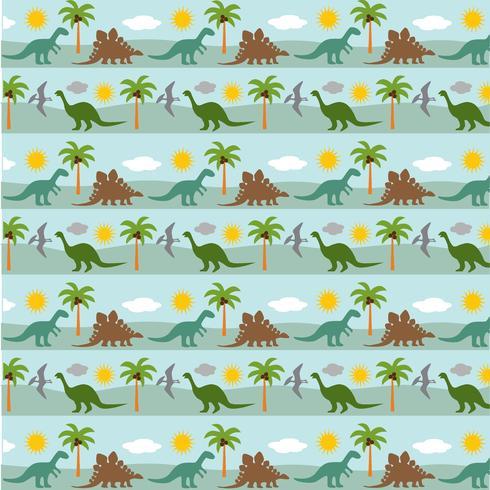 Raya de dinosaurio patrón de fondo vector