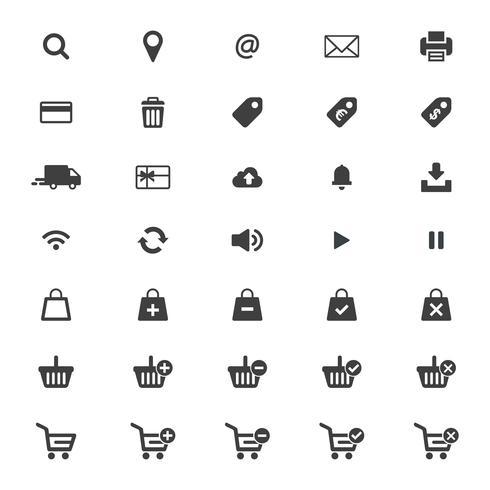 Vector conjunto de iconos de web.