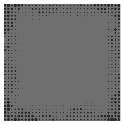 Fondo gris del marco del gradiente con los puntos de semitono.