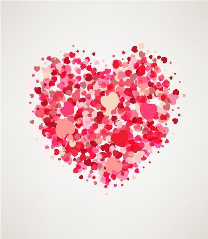 Glad hjärtans dag hälsningskort vektor