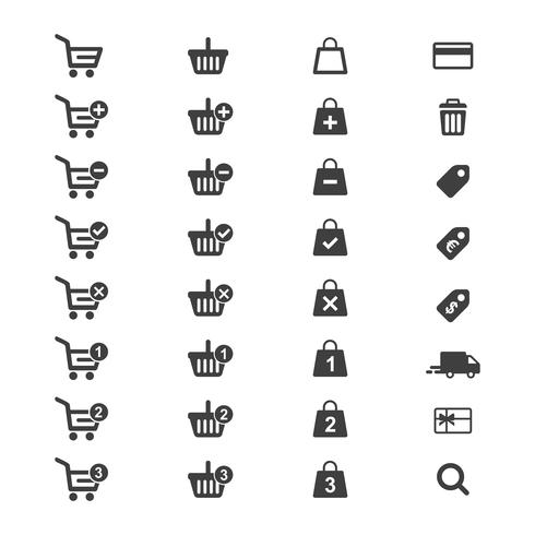 Vektor der E-Commerce-Ikone gesetzt.