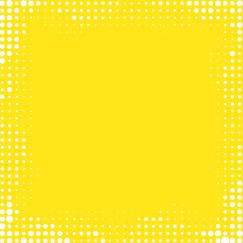 Fond de cadre dégradé jaune avec des points de demi-teintes.