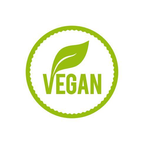 Veganes Essen-Symbol.