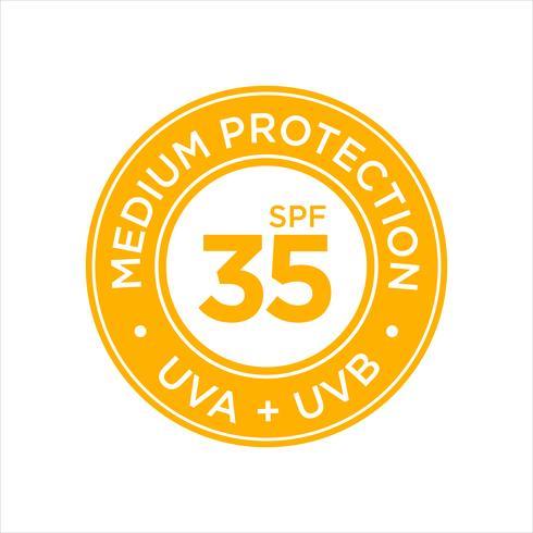 UV, protección solar, medio SPF 35.