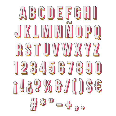 Tipografía 3d aislada