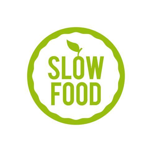 Ícone de comida lenta.