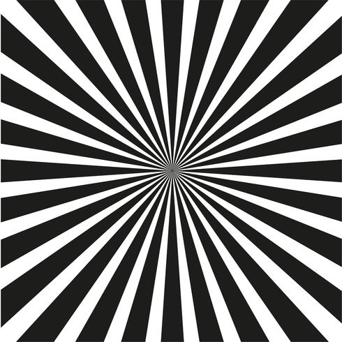 Bright black and white rays background.  vector