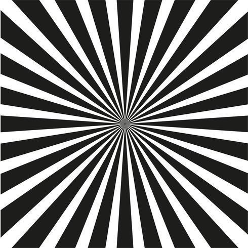 Fond de rayons noir et blanc lumineux.