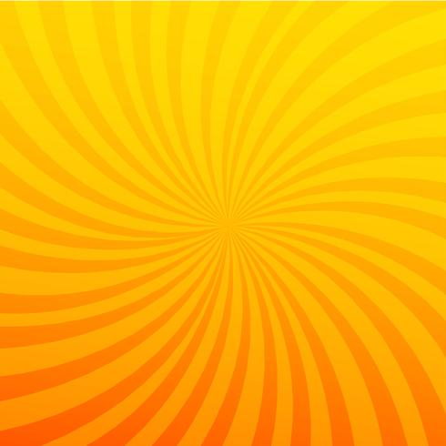 Bright orange rays background. Twister effect.  vector