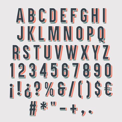 Tipografía 3d aislada vector
