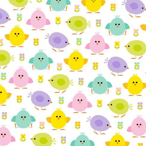 pastel chicks Easter pattern