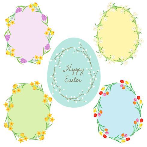 äggformade påskramar