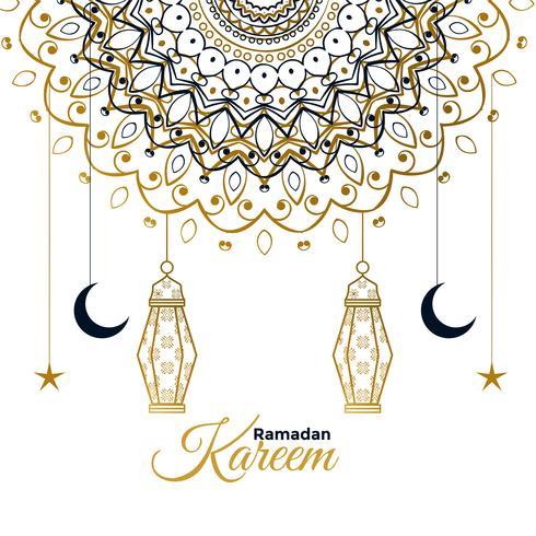 Ramadan Kareem dekorativer schöner Gruß