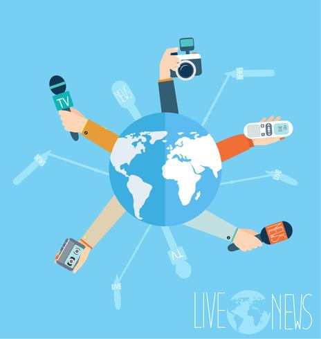 Journalism concept in flat style vector