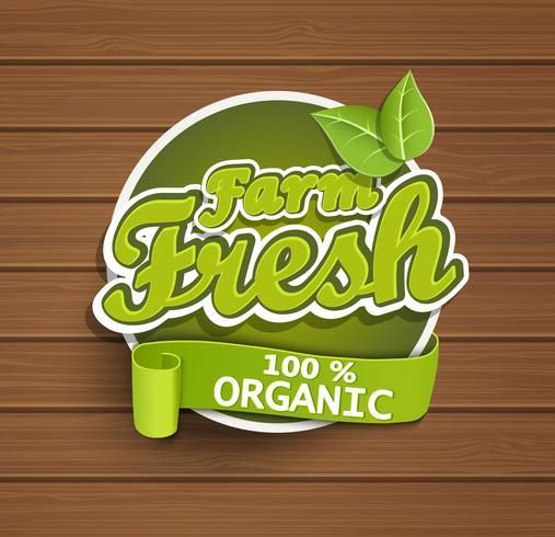 Etiqueta de granja fresca.